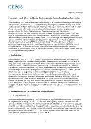 Notat // 30/01/09 1 Forsvarslovens § 17 er i strid med den ... - Cepos