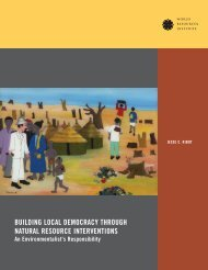 building local democracy through natural resource interventions