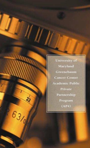 brochure/format for pdf - University of Maryland Greenebaum ...