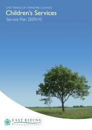 to view the Service Plan for Children's Services - East Riding Council