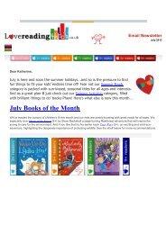 Love Reading 4 Kids Newsletter July 2013 - Richmond School