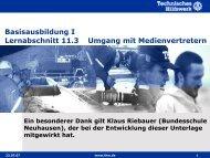 Umgang mit Medienvertretern - THW Gst Straubing