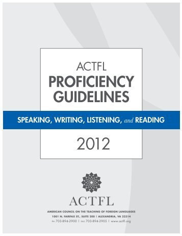 actfl proficiency guidelines - Liberal Arts Instructional Technology ...