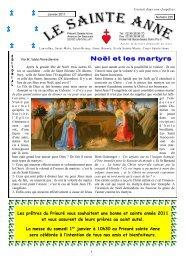 Le Sainte-Anne n° 225 de janvier 2011 - La Porte Latine