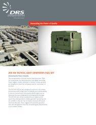 200 kw tactical quiet generator (tqg) set - DRS Technologies