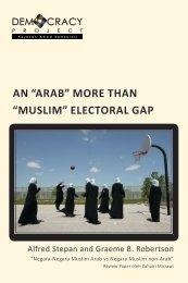 "an ""arab"" more than ""muslim"" electoral gap - Democracy Project"