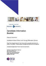 Candidate Information Booklet - Department of Justice