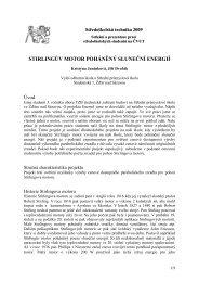 Stirlingův motor poháněný sluneční energií (Kristýna Juránková, Jiří ...