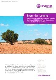 Product Story Nr. 40 - Baum des Lebens - Evonik Industries