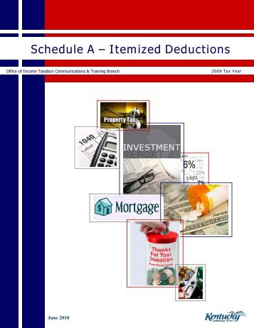 Schedule A – Itemized Deductions - Kentucky: Revenue Employee ...