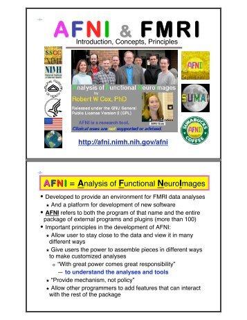 AFNI & FMRI - the AFNI/NIfTI Server