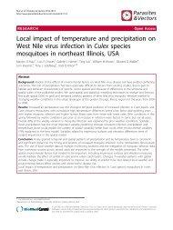 Local impact of temperature and precipitation on West Nile virus ...
