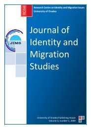 Journal of Identity and Migration Studies - Research Centre on ...