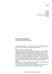 Statutenwijziging - FNV Horeca