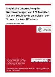 """Empirische Untersuchung der - Fachgebiet """"Immobilienwirtschaft ..."""