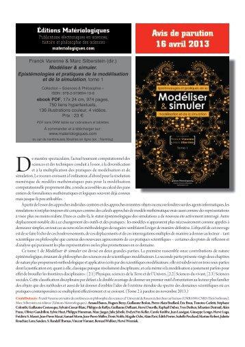 Avis de parution 16 avril 2013 - Groupe d'Étude des Méthodes de l ...