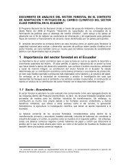 documento de analisis del sector forestal en el ... - UNDPCC.org