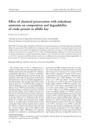 Effect of chemical preservation with anhydrous ammonia on ...
