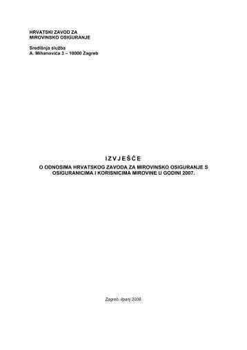 2007. - Hrvatski zavod za mirovinsko osiguranje
