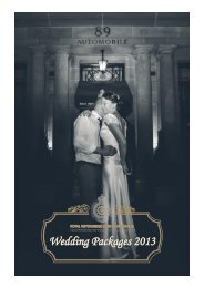 Wedding Packages 2013 - Royal Automobile Club of Australia