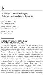 6 Multiteam Membership in Relation to Multiteam Systems