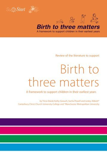 Birth to three matters - Communities and Local Government