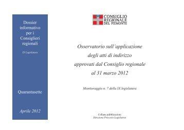 Dossier informativo n. 47 - Consiglio regionale del Piemonte