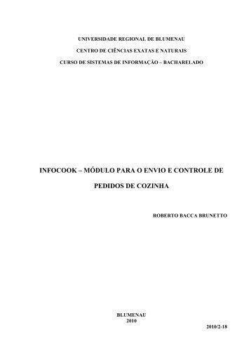 InfoCook – Módulo para o Envio e Controle de Pedidos de Cozinha