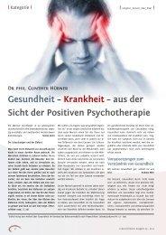 Gesundheit - Positive und Transkulturelle Psychotherapie