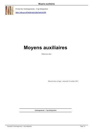 Moyens auxiliaires - Ge.ch