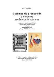 Sistemas de producción y modelos escénicos históricos - Parnaseo