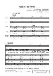 Jetzt ist Sommer SATB_bb - Schott Music