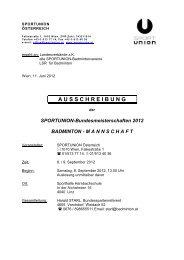 Sportunion-Bundesmeisterschaften - Österreichischer Badminton ...