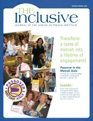 Inclusive JOI Journal, Winter-Spring 2009 - The Jewish Outreach ...