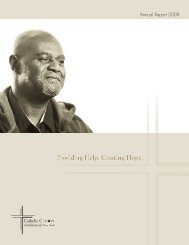 Annual Report 2008 - Catholic Charities of the Archdiocese of New ...