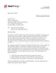 2010 Resource Plan Update - Xcel Energy