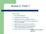 Module 5: TASK 1 - Bible