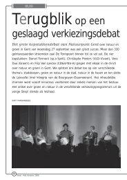 geslaagd verkiezingsdebat - Natuurpunt Gent