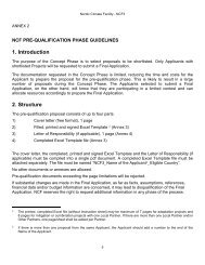 NCF Pre-qualification phase guidelines, annex 2 - Nefco