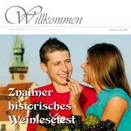 Znaimer historisches Weinlesefest - EUROprintCZ, sro