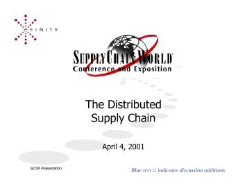 The Distributed Supply Chain - Supply Chain Council