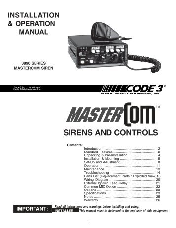 sirens and controls code 3 public safety equipment?quality\\\\\\\\\\\\\\\=85 815 area code beechcraft 58p wiring diagrams,code \u2022 indy500 co  at panicattacktreatment.co