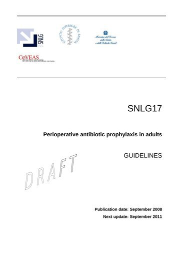 Perioperative antibiotic prophylaxis in adults - Sistema Nazionale ...