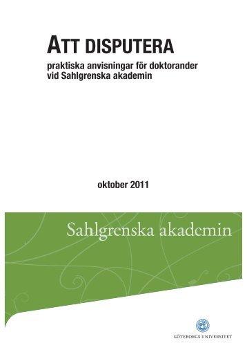 ATT DISPUTERA - Utbildning, Göteborgs universitet
