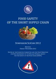 FOOD SAFETY OF THE SHORT SUPPLY CHAIN - FAVV