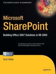Microsoft SharePoint. Building Office 2007 Solutions in VB 2005 ...