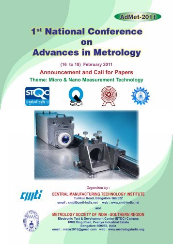 1st National Conference on Advances in Metrology