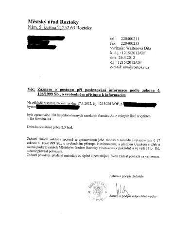 7. Vyjádření k žádosti - faktury městský ples, čerpání rozpočtu 2012