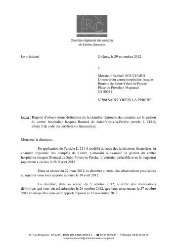 Rapport d'observations définitives (PDF, 757,67 ... - Cour des comptes