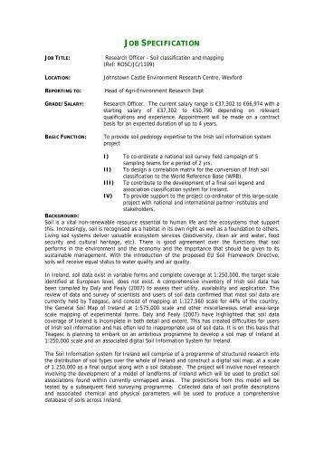 job specification templates